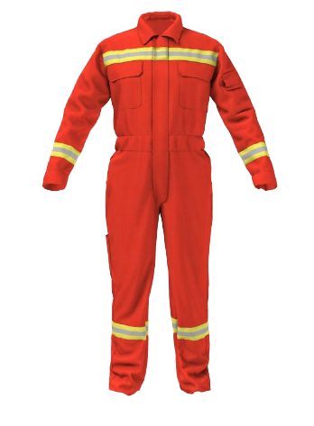 04M-4901 - HEAT AND FLAME PROTECTIVE COVERALL ORANGE