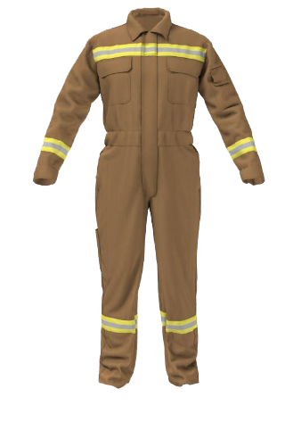 04M-4901 - HEAT-AND-FLAME-PROTECTIVE-COVERALL--BROWN